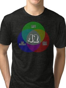 NEW Venn Diagram: Life, the Universe & Everything (for dark shirts) Tri-blend T-Shirt