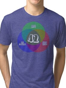 NEW Venn Diagram: Life, the Universe & Everything (for dark shirts) Tri-blend T-Shirt