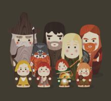 Fellowship of the Ring Matryoshka (Nesting) Dolls by Wetasaurus
