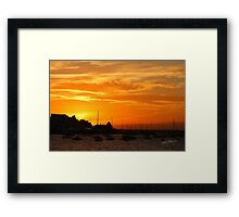 Sunset over Cowes Framed Print
