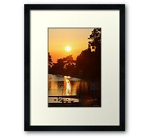 Ryde Sunset Framed Print