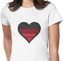 Heart Charging Womens Fitted T-Shirt