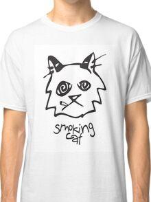 Smoking Cat Classic T-Shirt