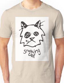 Smoking Cat Unisex T-Shirt