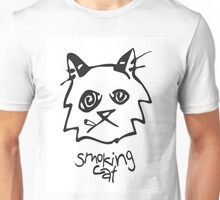 Smoking Cat Unisex T-Shirt
