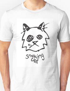 Smoking Cat T-Shirt