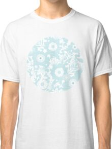 Blue lace flowers pattern Classic T-Shirt