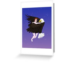 Making Love With His Eagle Greeting Card