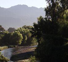 landscape with river I - paisaje con rio by Bernhard Matejka