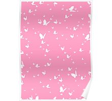 Butterfly Silhouette Pattern Poster
