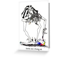 Jester wee cheery up Greeting Card