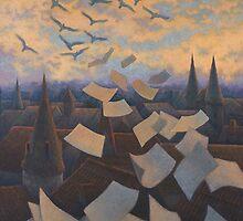 Flying Over City by Vera Kalinovska