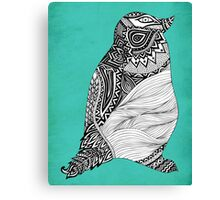 Tribal Penguin Canvas Print