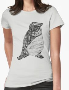 Tribal Penguin Womens Fitted T-Shirt