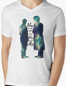 "Johnlock ""ALONE IS WHAT I HAVE"" white letters T-Shirt"