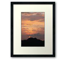 Sunset Manuel Antonio Costa Rica Framed Print