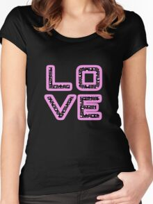 Loves stylish Black Women's Fitted Scoop T-Shirt