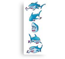 Prom Shark (Vertical)  Canvas Print