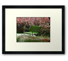 """Bench"" by Carter L. Shepard Framed Print"