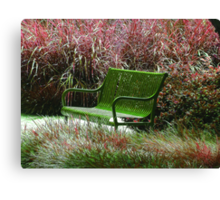 """Bench"" by Carter L. Shepard Canvas Print"