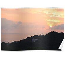 Manuel Antonio Sunset Poster