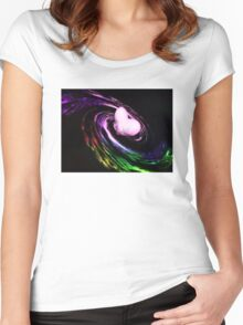 Heart filled galaxy Women's Fitted Scoop T-Shirt