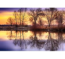 Pella Crossing Sunrise Reflections HDR Photographic Print