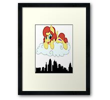 Kansas City Bronies Skyline Design Framed Print