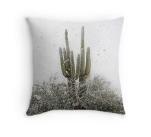 Arizona Snowstorm Throw Pillow