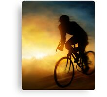 Cycling Cyclist Canvas Print