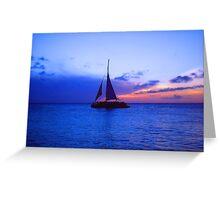 """Aruba Sail Boat"" by Carter L. Shepard Greeting Card"