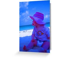"""Aruba Beach Baby"" by Carter L. Shepard Greeting Card"