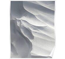 Winter Snow Drift Sculpture  Poster