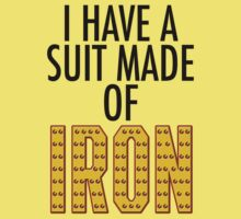 I Have Suit Made Of Iron Kids Clothes