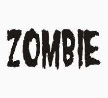 Zombie (black) Kids Clothes
