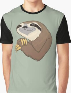 Happy Sloth Graphic T-Shirt