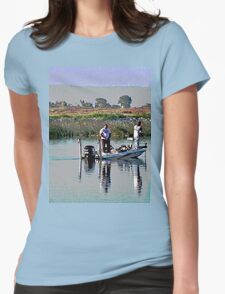 Delta Bass Boat Fish'n Womens Fitted T-Shirt
