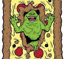 Slimer Loves Pizza by AhamSandwich