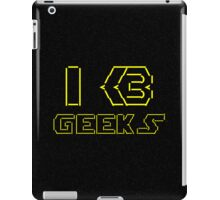 I Heart Geeks ASCII ART iPad Case/Skin