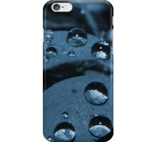 Rain Drops Blue iPhone Case/Skin