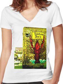 Isleton Joe's Restaurant & Saloon Women's Fitted V-Neck T-Shirt