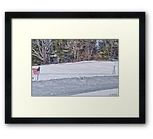 Winter Games Framed Print