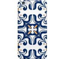 Old floral tiles background iPhone Case/Skin