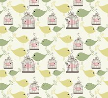 Seamless birds pattern by Ana Marques