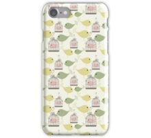 Seamless birds pattern iPhone Case/Skin