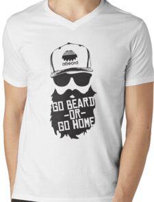 Go Beard Or Go Home Mens V-Neck T-Shirt