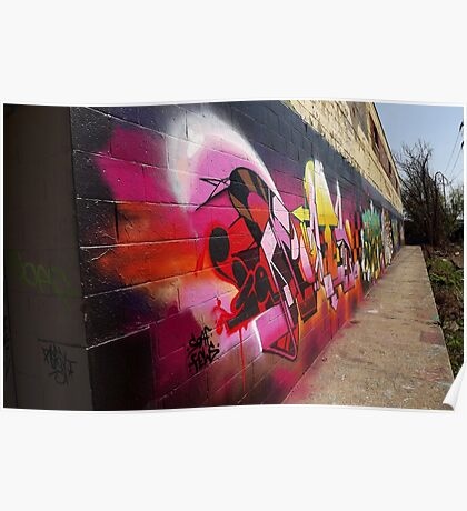 "Classic Graffiti on a ""Permission Wall""- Poster"