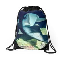 Nurse Shark on Night Dive Drawstring Bag