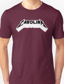 Carolina - Metal Font (Black Text) Unisex T-Shirt