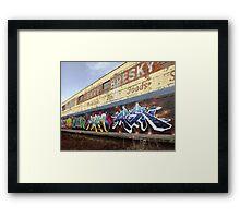 """Classic Graffiti on a """"Permission Wall""""- Framed Print"""